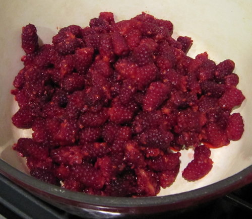 Prepped tayberries