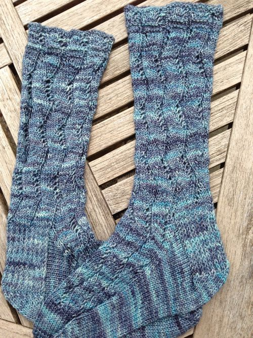 Waving Lace Socks by Evelyn A. Clark