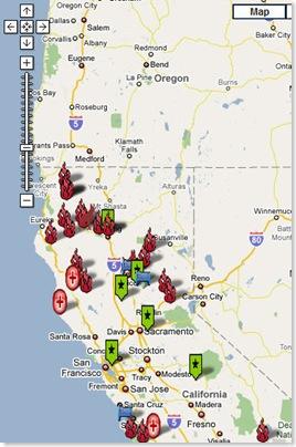 google map fires